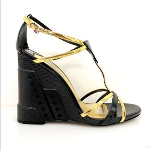 Prada Strap Wedge Sandal